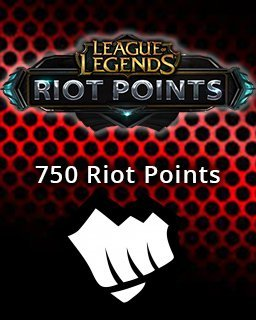 LOL Riot Points 750 EU krabice