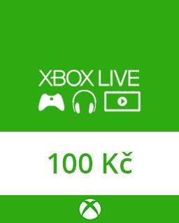 Microsoft Xbox live Dárková karta 100 kč