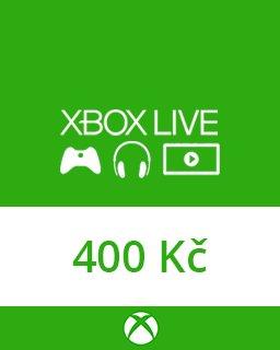 Microsoft Xbox live Dárková karta 400 kč krabice