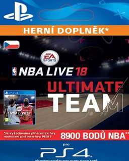 NBA Live 18  Ultimate Team 8900 Points krabice