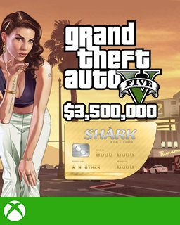Grand Theft Auto V Online The Whale Shark Cash Card 3,500,000$ GTA 5 Xbox One krabice