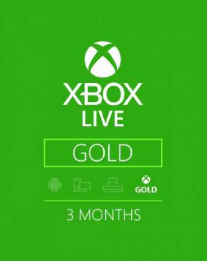 Xbox Live Gold 3m