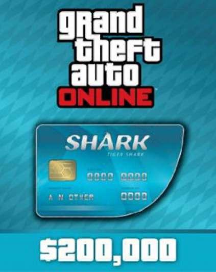 Grand Theft Auto V Online Tiger Shark Cash Card 200,000$ GTA 5