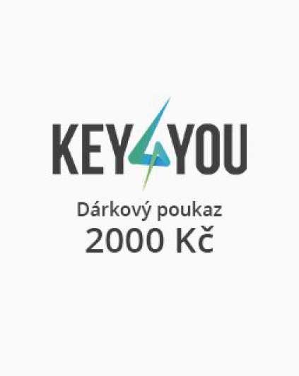 Dárkový poukaz v hodnotě 2000,- CZK