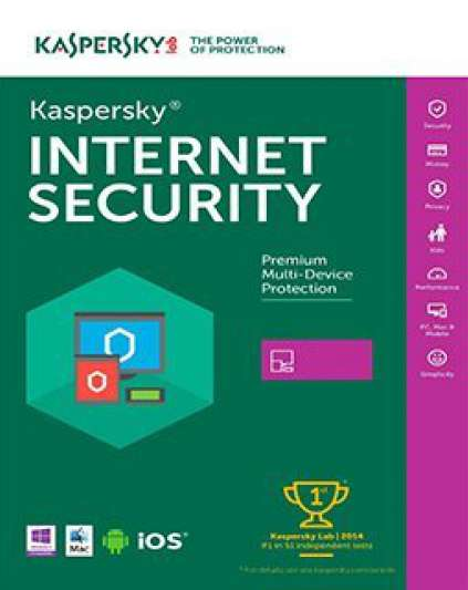 Kaspersky Internet Security 2017, 1 lic. 1 rok