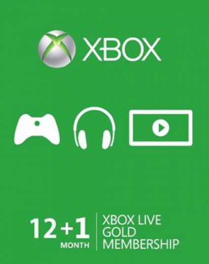 Xbox Live Gold 12+1m