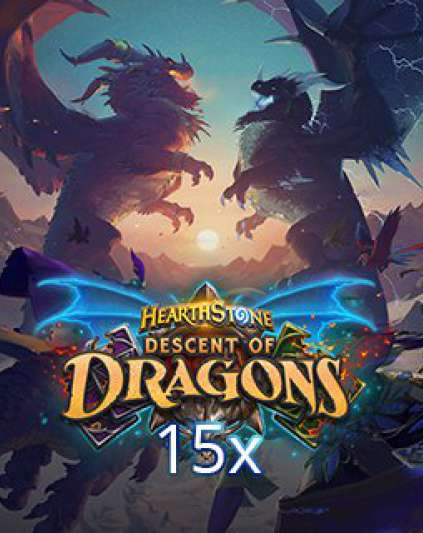 15x Hearthstone Descent of Dragons