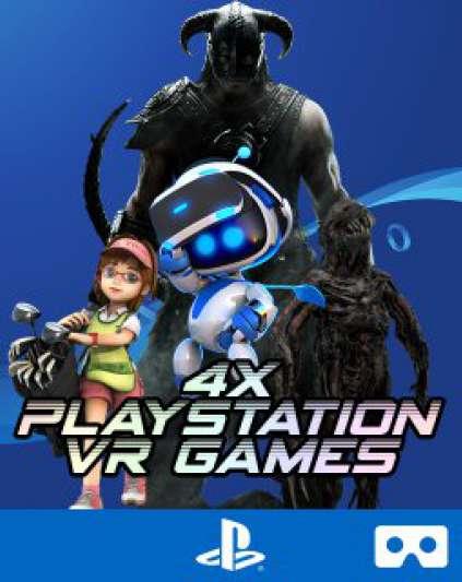 4v1 VR Games | Skyrim | Resident Evil 7 | Astro Bot | Everybody´s Golf