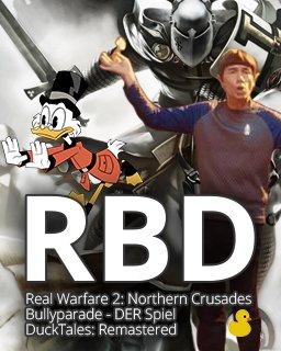 Real Warfare 2 Northern Crusades + Bullyparade DER Spiel + DuckTales Remastered krabice