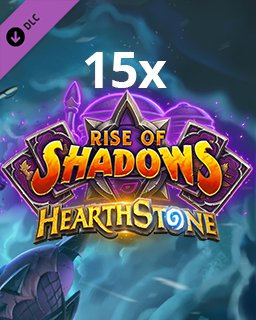 15x Hearthstone Rise of Shadows krabice