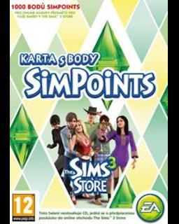 The Sims 3 1000 bodů krabice