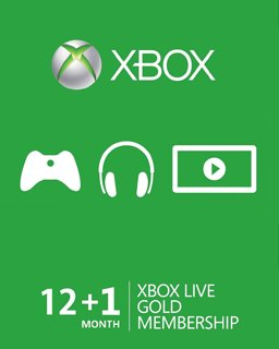 Xbox Live Gold 12+1m EU,US krabice