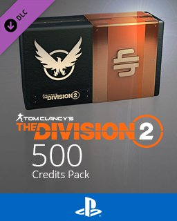 Tom Clancys The Division 2 500 Premium Credits Pack