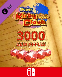 3000 Gem Apples dla Super Kirby Clash krabice