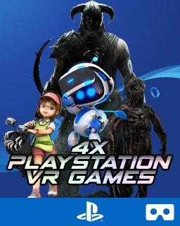 4v1 VR Games | Skyrim | Resident Evil 7 | Astro Bot | Everybody´s Golf krabice