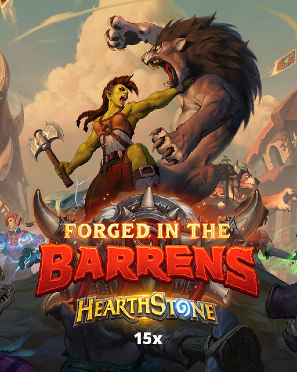 15x Hearthstone Forged in the Barrens