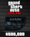 Grand Theft Auto V Online Bull Shark Cash Card 500,000$ GTA 5