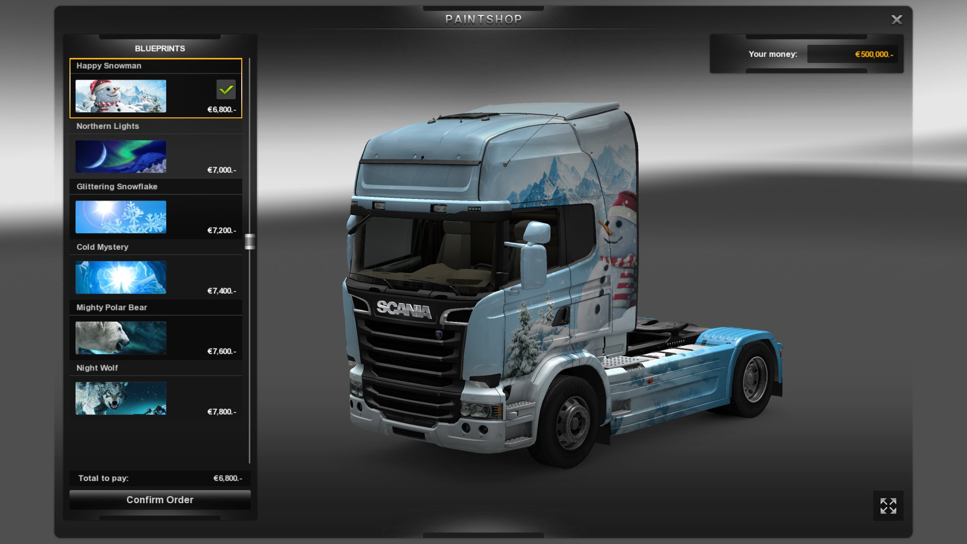 Euro Truck Simulátor 2 Ice Cold Paint Jobs Pack 7