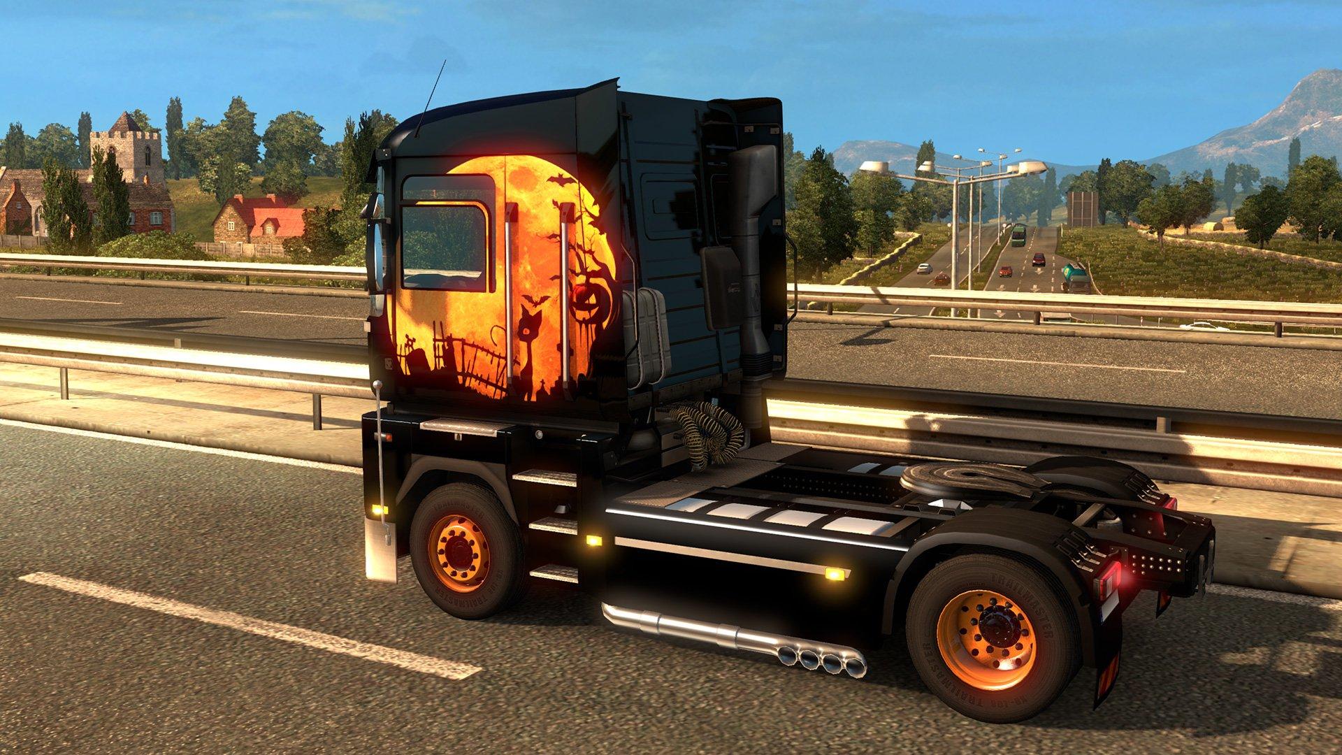 Euro Truck Simulátor 2 Halloween Paint Jobs Pack 8