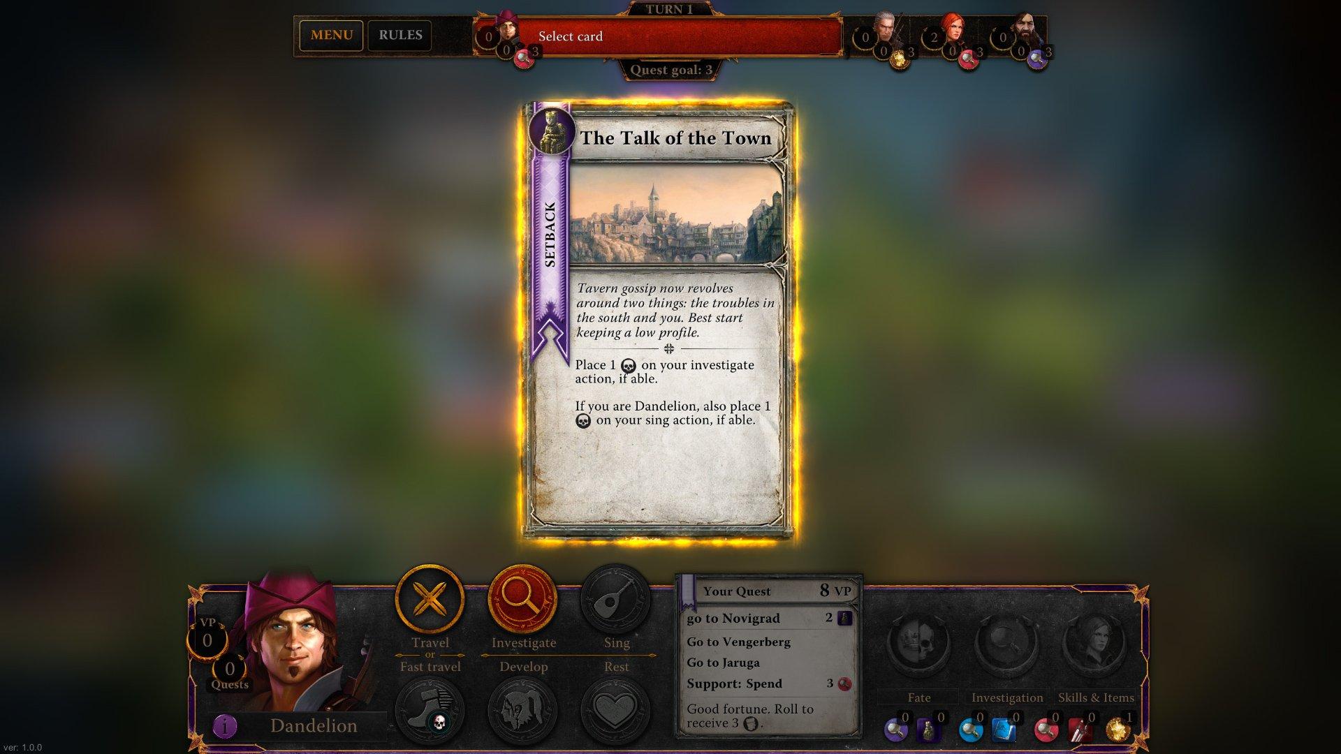 Zaklínač, The Witcher Adventure Game 11