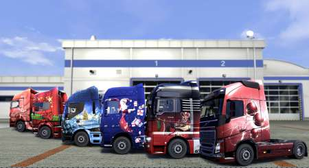 Euro Truck Simulátor 2 Christmas Paint Jobs Pack 9