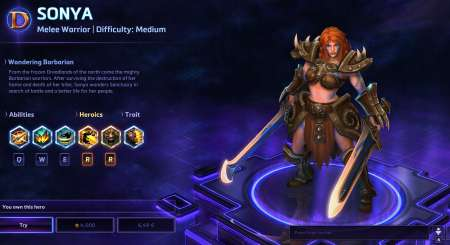 Sonya Heroes of the Storm 1