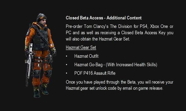 Tom Clancys The Division Hazmat gear set 5