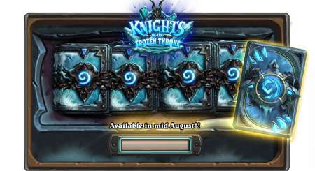 15x Hearthstone Knights of the Frozen Throne 1
