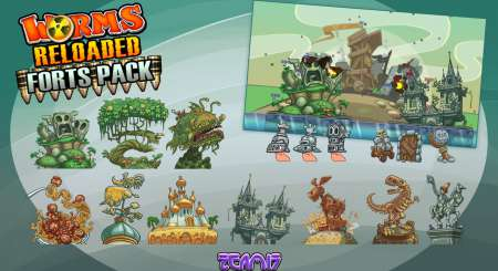 Worms Reloaded Forts Pack 1