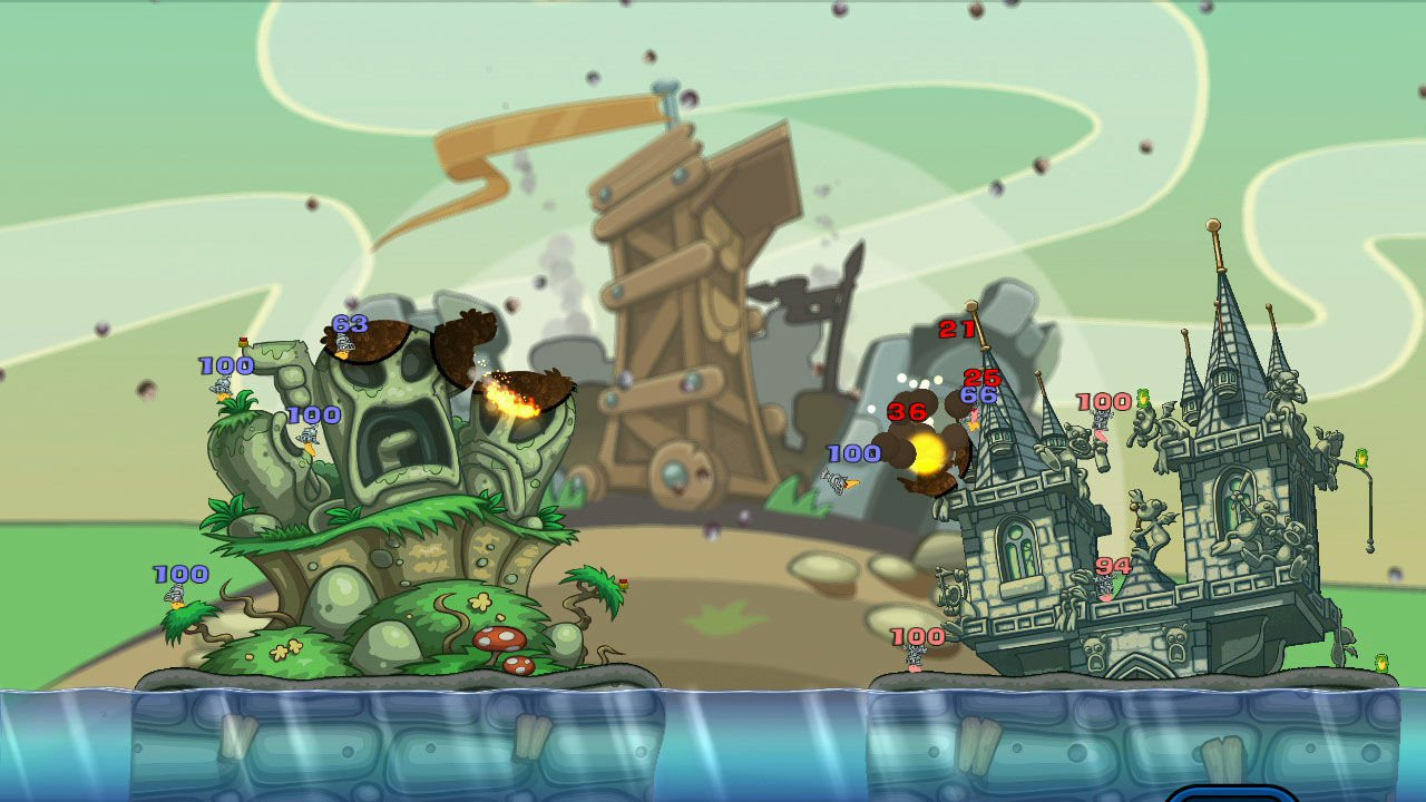 Worms Reloaded Forts Pack 7