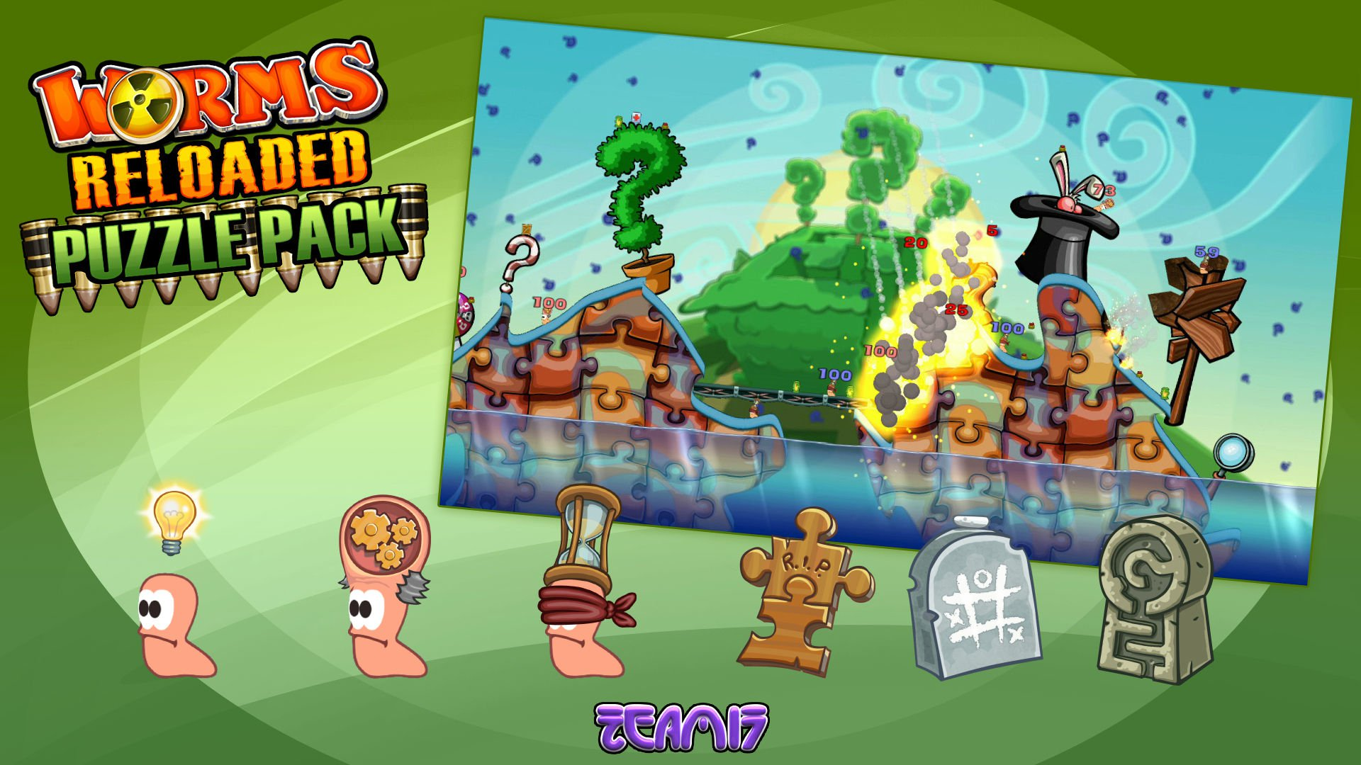 Worms Reloaded Puzzle Pack 1