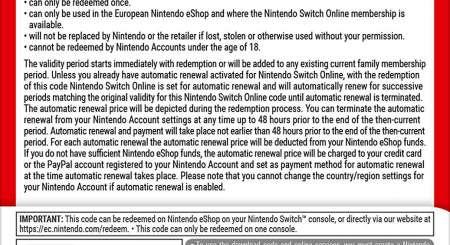 365 Dní Switch Online Membership Family 1