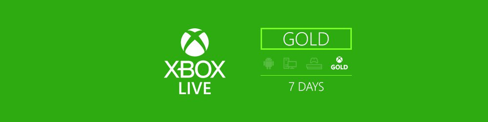 Xbox Live Trial Gold 7 dní EU,US banner