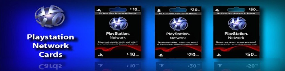Playstation Network Card 20 USD banner
