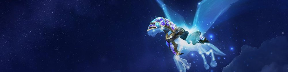 World of Warcraft Celestial Steed banner