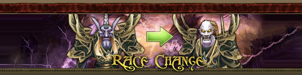 World of Warcraft Race Change banner