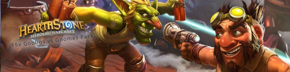 15x Hearthstone Goblins vs Gnomes Pack banner