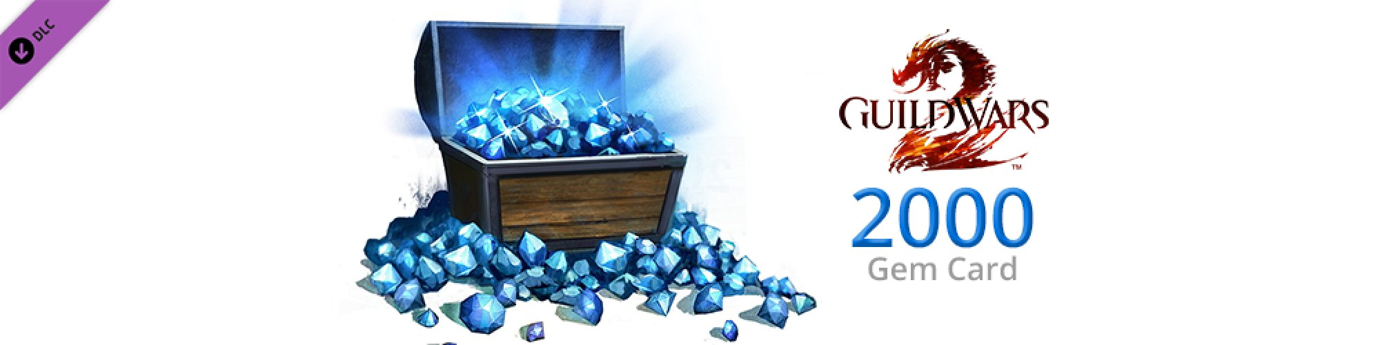 Guild Wars 2 2000 Gem Card banner