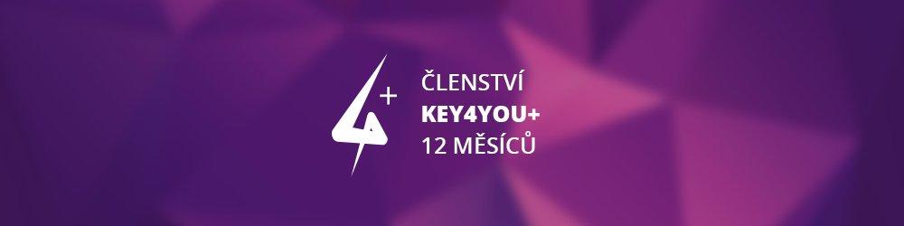 Key4You+ Členství (12 měsíců) banner