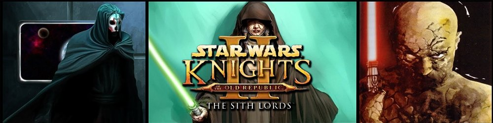 STAR WARS Knights of the Old Republic 2 The Sith Lords banner