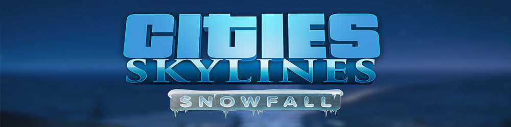 Cities Skylines Snowfall banner