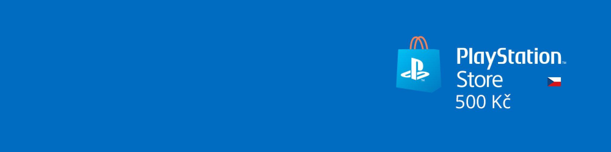 PlayStation Live Cards 500Kč banner