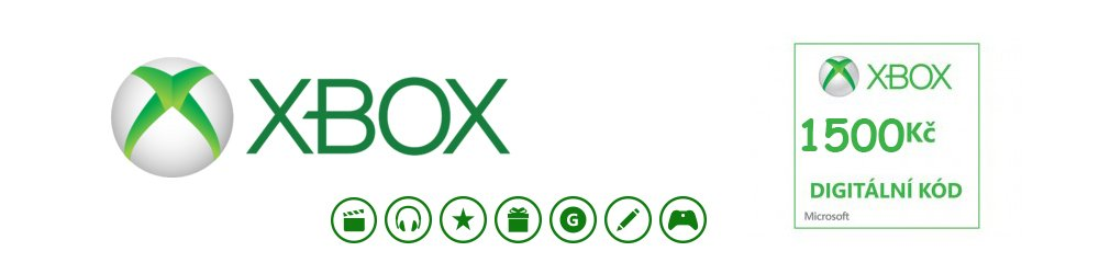 Microsoft Xbox live Dárková karta 1500 kč banner