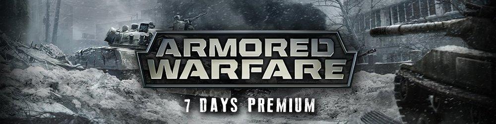 Armored Warfare 7 Days premium banner