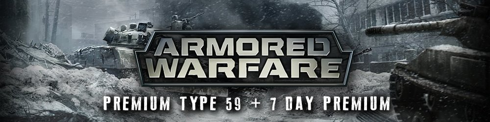 Armored Warfare Premium Type 59 + 7 day Premium banner