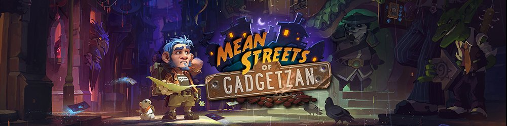 15x Hearthstone Mean Streets of Gadgetzan banner