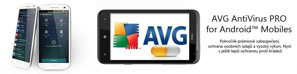AVG AntiVirus PRO for Android 1 lic. 1 rok banner