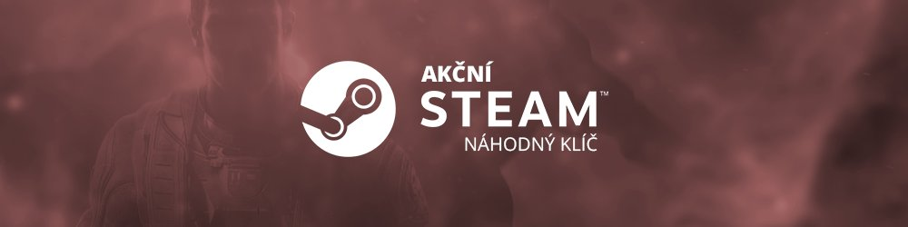 Akční náhodný steam klíč banner