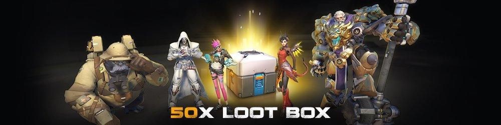 Overwatch 50 Loot Box banner
