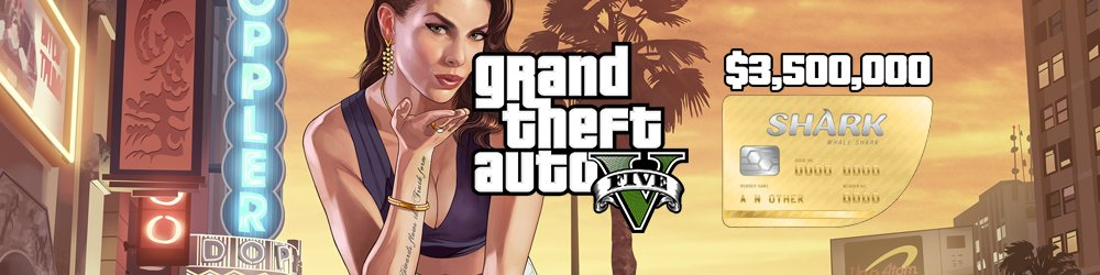 Grand Theft Auto V Online The Whale Shark Cash Card 3,500,000$ GTA 5 Xbox One banner